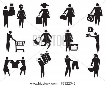 Retail Therapy Vector Icons