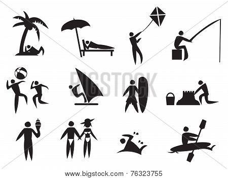 Summer Activities Vector Icon Set