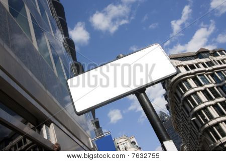Blank Sign In The City