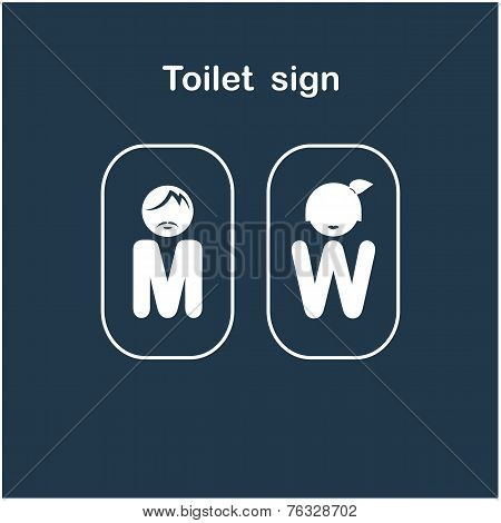 Man And Woman Toilet Sign