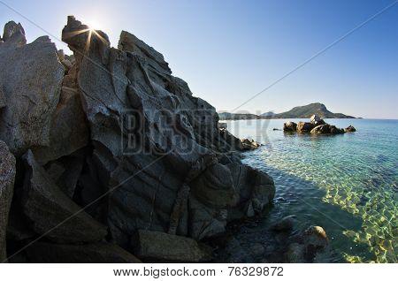 Sea rocks at early morning, Sithonia, Chalkidiki