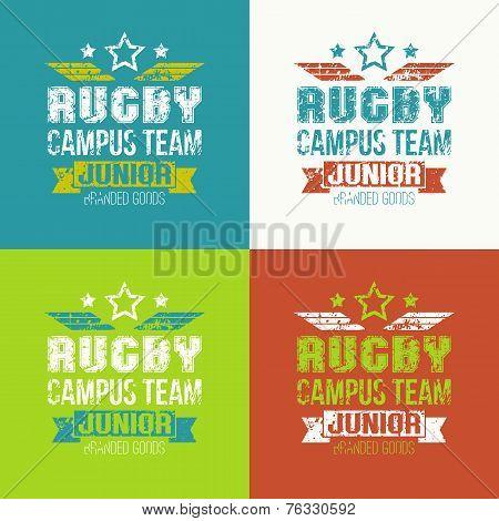 College Rugby Junior Team Emblem