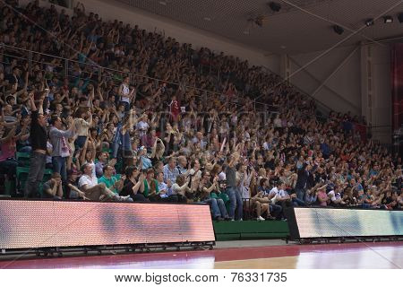 Fans And Spectators On The Stands