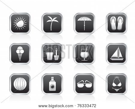 Summer, Holiday and beach objects