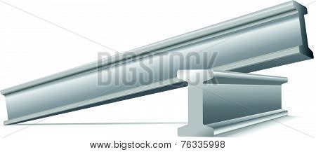metal construction beams vector isolated on white