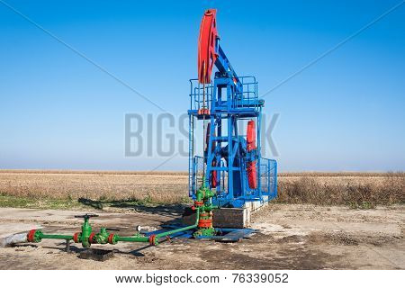 Oil industry pump jack close up
