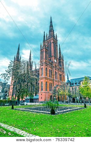 The main Protestant church in Wiesbaden.