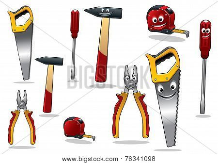 Set of DIY cartoon tools