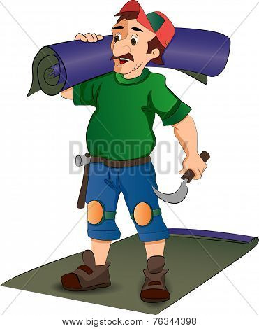 Carpet Installer, Illustration