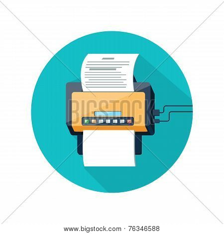Fax icon with paper page
