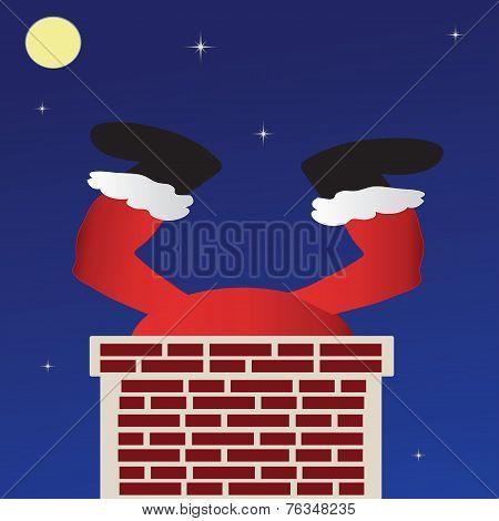 Santa Going Down The Chimney