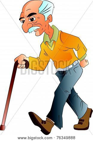 Old Man Walking, Illlustration