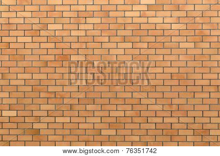 Somewhat clean exterior brick wall. Ideal background texture with plenty of copy space.
