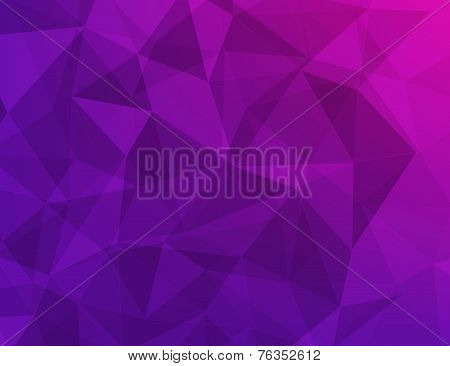 Polygon Geometric Abstract Background Of Purple