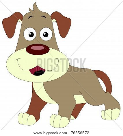 Cute Brown Dog, Illustration