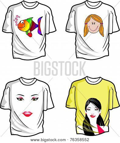 T-shirts, Illustration