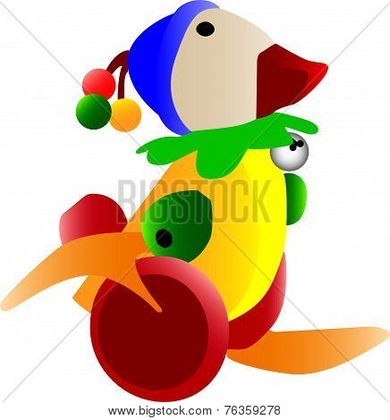 Colorful Retro Duck Toy