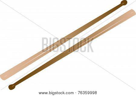 Vectorized Drum Sticks