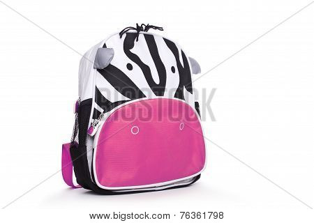 child's backpack isolated on a white background