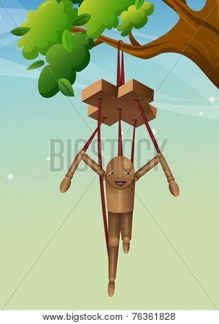 Wooden Puppet, Illustration