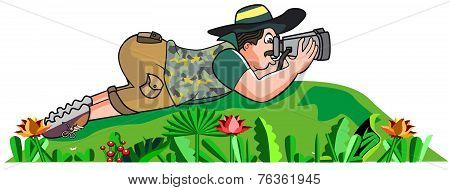 Safari Hunter, Illustration