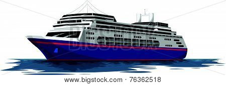 Vector Of Cruise Ship.