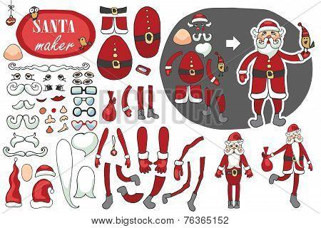 Santa Claus maker.Humorous Constructor set