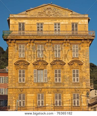 City Of Nice - Old Building In The Cours Saleya