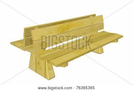 Double Wood Park Bench, 3D Illustration
