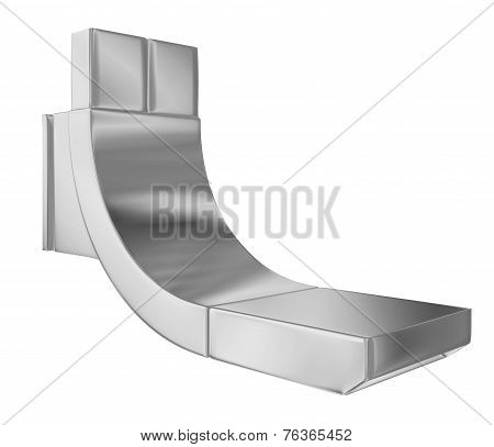 Modern Faucet With Chrome Finishing, 3D Illustration