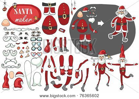 Santa Claus maker.Humorous Constructor set