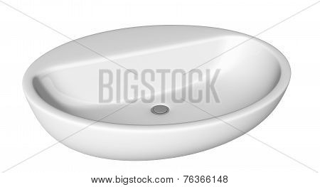 Egg-shapped and shallow washbasin or sink