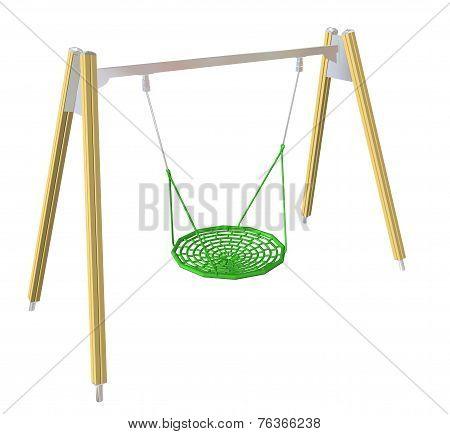 Netted Swing, 3D Illustration