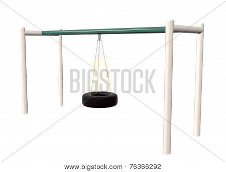 Tire Swing, 3D Illustration