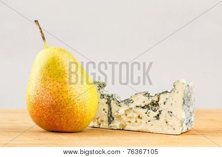 Pear And Blue Cheese Close Up