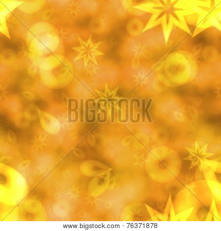 Abstract Bokeh Background In Yellow Spectrum