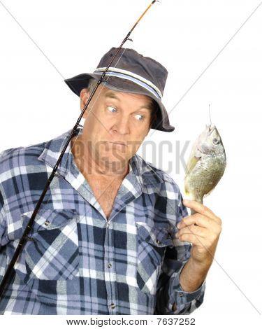 Pescador surpreso