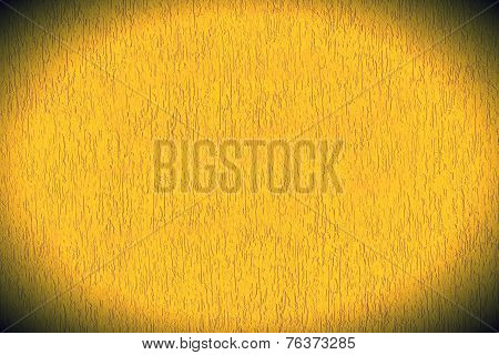 Yellow Mortar Wall Textured Background.
