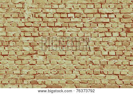 Vintage Old Brick Layers Textured Isolated Background