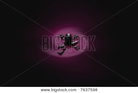 Purple Glass Froggy