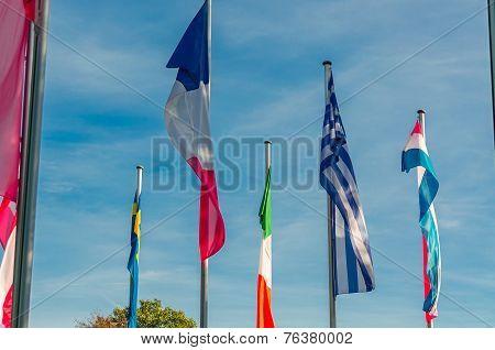 International Flags Sea