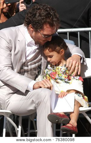 LOS ANGELES - NOV 17:  Matthew McConaughey, Vida Alves McConaughey at the Matthew McConaughey Hollywood Walk of Fame Star Ceremony at the Hollywood & Highland on November 17, 2014 in Los Angeles, CA