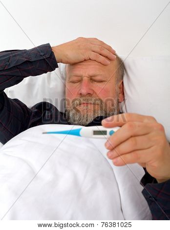 Unwell Elderly Man