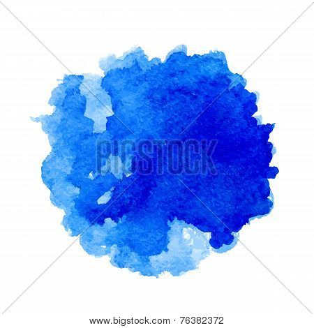 Watercolor vector blue spot