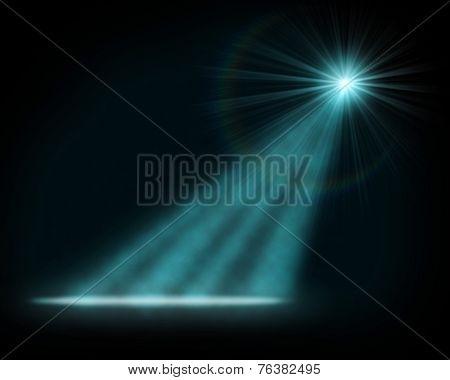 Single blue tage light background.