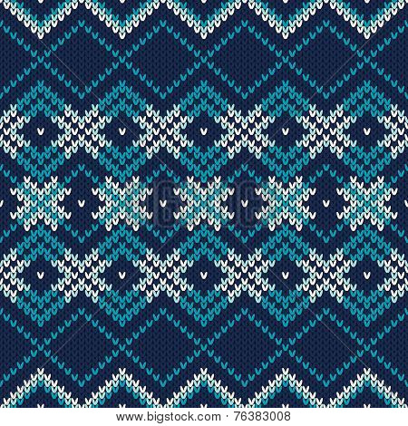 Seamless Knitted Pattern. Festive And Fashionable Sweater Design