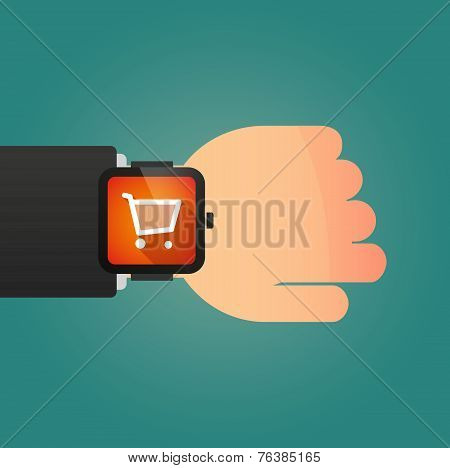 Smart Watch Icon With A Shopping Cart