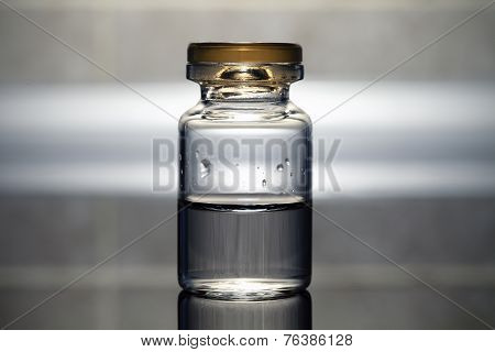 Vial With The Medicine. Medical Concept.