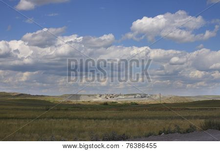 Steppe Landscape With Quarry