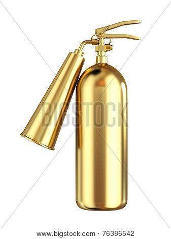 Golden Extinguisher Isolated